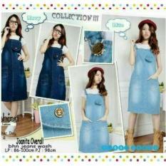 Overall Skirt Jeans Dress Kodok Rok Pendek With Inner Jumpsuit Korea - Lgncrw