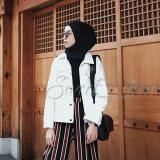 Toko Oversize Denim Jacket White Online Indonesia