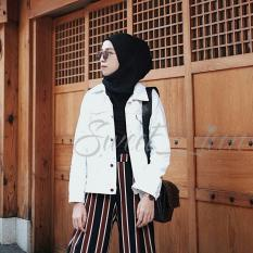 Harga Oversize Denim Jacket White New