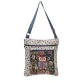 Ulasan Mengenai Owl Dicetak Wanita Kasual Tote Pemakaian Sehari Hari Tas Belanja Single Shoulder Handbag Bg Intl