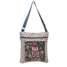 Jual Beli Owl Dicetak Wanita Kasual Tote Pemakaian Sehari Hari Tas Belanja Single Shoulder Handbag Bg Intl Tiongkok