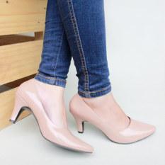 Pluvia - Own Works Sepatu Kerja Pantofel High Heels Wanita BB01 - Mocca