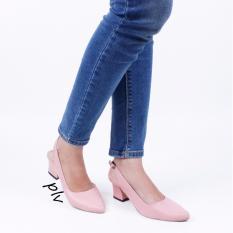Toko Own Works Sepatu Pantofel Wanita Block Heels Slingback Pvs Salem Di Jawa Barat