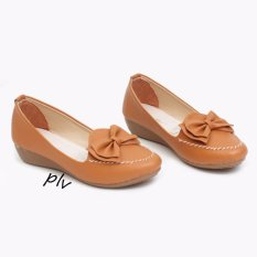 Own Works Sepatu Pantofel Wanita Wedges RJ02 - Camel