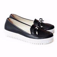 Promo Own Works Sepatu Sneakers Slip On Wanita Pkr01 Hitam Akhir Tahun