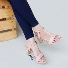 Spesifikasi Own Works T Strap Block Mid Heel Sandals Ska02 Salem Paling Bagus