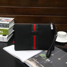 Oxford Garis Merah Klip Kapasitas Besar Dompet Tas Tangan Pria Tas Oxford 2 Pita Tengah Strip Diskon Akhir Tahun