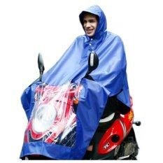 Diskon Oxford Motorcycle Waterproof Rain Coat Jas Hujan Biru Branded