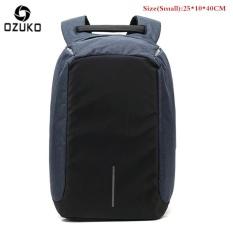 Pusat Jual Beli Ozuko Tahan Air Oxford Pria Usaha Backpack Eksternal Usb Pengisian 15 6 Inci Ransel Laptop Fungsional Kasual Anti Pencurian Komputer Travel Bag Tas Sekolah Kecil Biru Intl Tiongkok