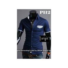 P112 Kemeja Pria/Laki Lengan Pendek SLIM FIT- Best Tailor SIZE LENGKAP