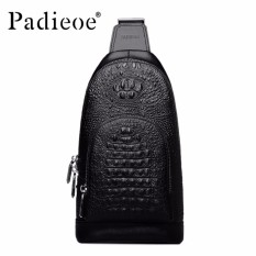 Harga Padieoe Business Men Bag Luxury Genuine Cow Leather Men Messenger Shoulder Bags Male Black Bags Man New Fashion Chest Bags Intl Termahal