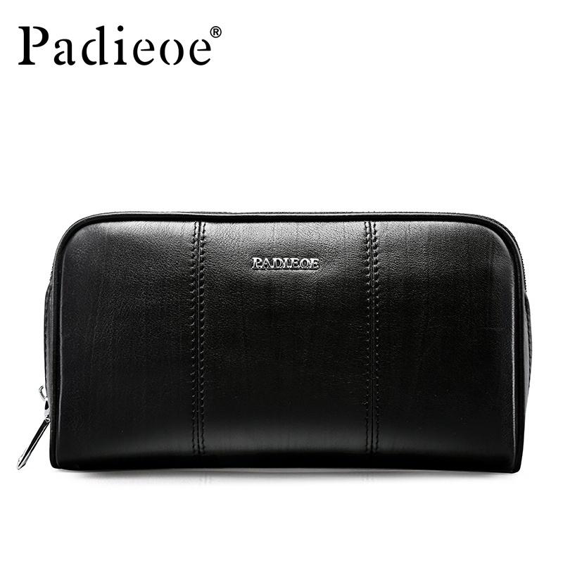 Padieoe Fashion Baru Kedatangan Pria Panjang Dompet Kulit Asli Ritsleting Tas  Genggam Dompet Koin Ponsel Kartu 59ab99787f