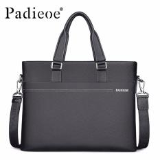 Padieoe High Quality Genuine Leather Men Business Briefcase Male Office Cowhide Leather Men Messenger Bag Fashion Handbags Shoulder Bags