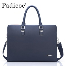 Padieoe High Quality Men Briefcases Men Office Bag Genuine Cow Leather Messenger Bag With Large Capacity Men Document Briefcase Business Male Office Briefcase Totes