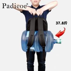 Padieoe Berkualitas Tinggi Unisex Tas Fashion Casual Wanita dan Pria Nylon Backpack Laptop Bag School Notebook Ransel Besar Kapasitas Blcak 16 Inci-Intl