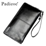 Toko Jual Padieoe Luxury Brand Men S Wallet Genuine Leather Business Wallets Black Clutch Bag Male Wallet Long Purses Card Holder Coin Zipper Wallet For Men Intl