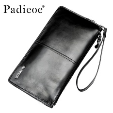 Spesifikasi Padieoe Luxury Brand Men S Wallet Genuine Leather Business Wallets Black Clutch Bag Male Wallet Long Purses Card Holder Coin Zipper Wallet For Men Intl Baru