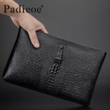 Beli Padieoe Men Clutch Bag Genuine Leather Crocodile Pattern Business Men S Handbag Zipper Fashion Wallet Good Quanlty Black 11 4Inch Intl Yang Bagus