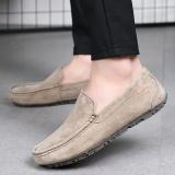 Harga Paier 2017 Tren Baru Ukuran Besar Pria Mengemudi Sepatu Kulit Sapi Sepatu Kasual Santai Kanvas Shoes Plate Sepatu Bernapas Versi Korea Muda Sepatu Khaki Paier Asli