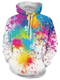 Kualitas Paint Splatter Cetak Lengan Panjang Pullover Hoodie Intl Not Specified