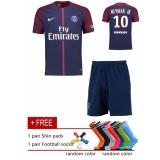 Jual Pasang Saint Germain Home Shirt Jersey 2017 18 No 10 Neymar Jr Sepakbola Jersey Sepakbola Jersey With Asli Logo Di Tiongkok