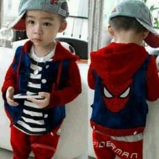 Toko Pakaian Anak Laki Laki Fashionable Stelan Spider Man Juwita Collection Indonesia