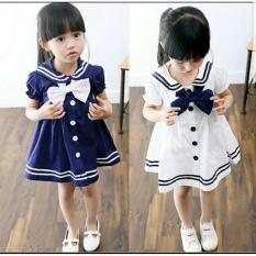 Spesifikasi Pakaian Anak Perempuan Dress Sailor Kid Putih Terbaru