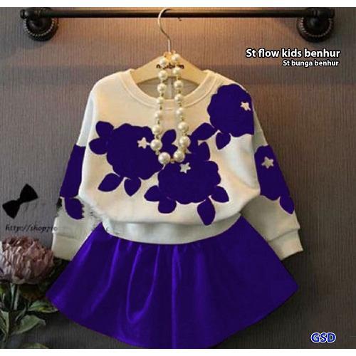 Pakaian Anak Perempuan/ Setelan Flow Kids/ St Bunga