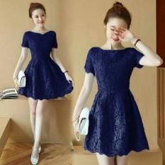 Pakaian Fashionable Dress Wanita -Dress Brukat Amber