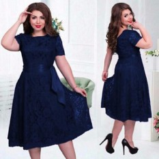 Situs Review Pakaian Fashionable Wanita Dress Jumbo Melly