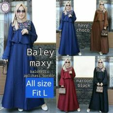 Pakaian Hijab Gaya Baru / Gamis Hitam / Dress Murah : Baley Maxy