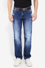 Pakaian Jeans Pria Emba Jeans Basic Update Fm 316 + Belt Hs Muda Diskon discount murah bazaar baju celana fashion brand branded