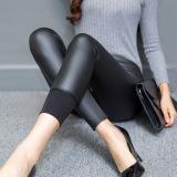 Pakaian Luar Yard Besar Pinggang Tinggi Bagian Tipis Celana Perempuan Celana Kulit Hitam Oem Diskon 30