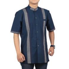 Pakaian Muslim Baju Koko Pria Sarimbit Raindoz RGS 038 Biru Katun