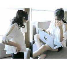 F Fashion Kemeja Wanita Laptop Girl - Putih / Baju Wanita / Blouse Korea / Atasan Wanita / Baju Formal / Kemeja Wanita / Kemeja Formal / Atasan Muslim / Kemeja Cewek Tunik / Kemeja Kerja / Kemeja Katun