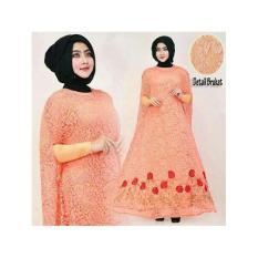 Pakaian Wanita Hasanah Fashion  KR Kaftan Raisa Peach