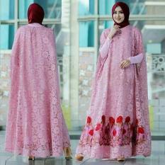 Pakaian Wanita Hasanah Fashion  KR Kaftan Raisa Pink