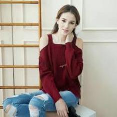 Daftar Harga Pakaian Wanita Sabrina Top Knite Premium Maroon Raikheys