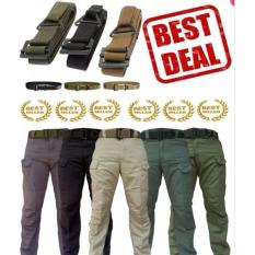 Paket Celana Panjang Blackhawk Tactical Dan Sabuk Gesper Besi Import (Polisi, Army, Militer, Turn Back Crime, Outdoor, Cargo)