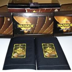Paket Hemat 2 Pcs Sarung Tenun Wadimor - Polos Hitam By Royalshop.