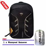 Palazzo Backpack Tas Ransel Laptop 300046 Original New Desain Mf Black Raincover Asli