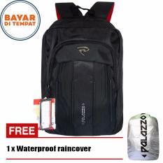 Palazzo Tas Ransel 18 Inchi 35429 18 Polyester Nylon Waterproof Original Black Raincover Asli