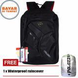 Review Toko Palazzo Tas Ransel 35428 17 Asimetric Design Original Black Raincover
