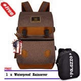 Review Palazzo Tas Ransel Korea 300131 Size 18 Inchi Vintage Design Original Coffee Raincover Palazzo