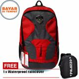 Diskon Palazzo Tas Ransel Outdoor Semi Keril 40 Liter 300099 Bahan Parasut Premium Waterproof Original Red Raincover