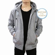 Toko Palemo Jaket Sweater Polos Hoodie Zipper Misty Muda Unisex Lengkap Jawa Barat