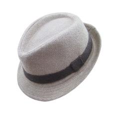 Spesifikasi Palight Solidcolor Linen Jazz Anak Topi Topi Fedora Dril Murah Berkualitas