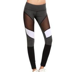 Toko P Menyala Wanita Olahraga Kebugaran Celana Mesh Disambung Yoga Legging Stretch Kurus Palight Tiongkok
