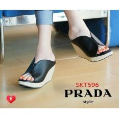 Ando Sandal Jepit Wedges Wanita Willona - HitamIDR74900. Rp 77.730
