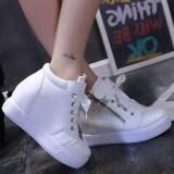 Jual Paling Dicari Sepatu Wanita Boots Wedges Warna Putih Terlaris Import